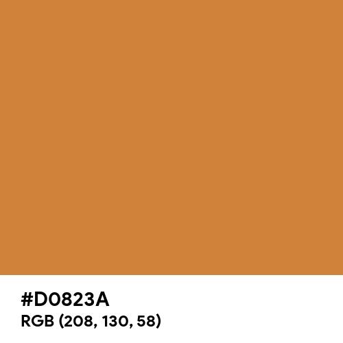 Russet Orange (Hex code: D0823A) Thumbnail
