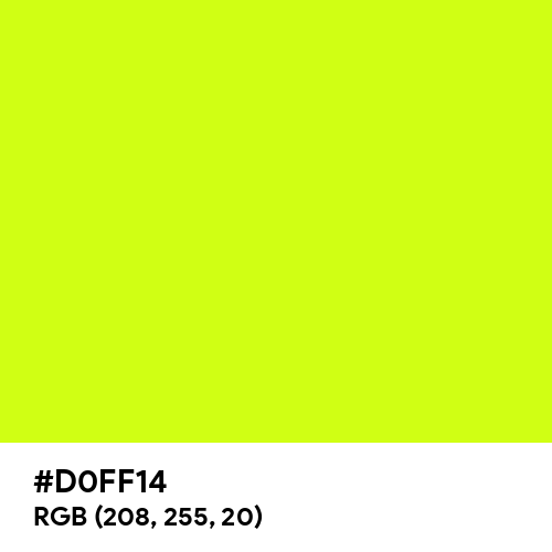 Arctic Lime (Hex code: D0FF14) Thumbnail