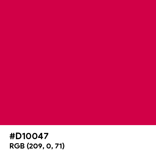 Spanish Carmine (Hex code: D10047) Thumbnail