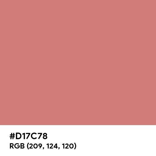 New York Pink (Hex code: D17C78) Thumbnail