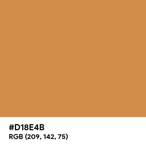 Mustard Brown (Hex code: D18E4B) Thumbnail