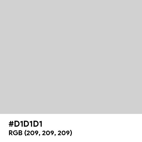 American Silver (Hex code: D1D1D1) Thumbnail