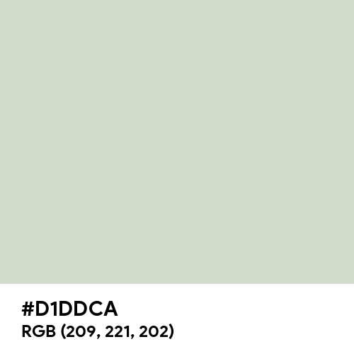 Light Gray (Hex code: D1DDCA) Thumbnail