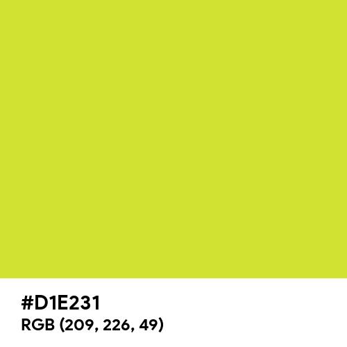Pear (Hex code: D1E231) Thumbnail