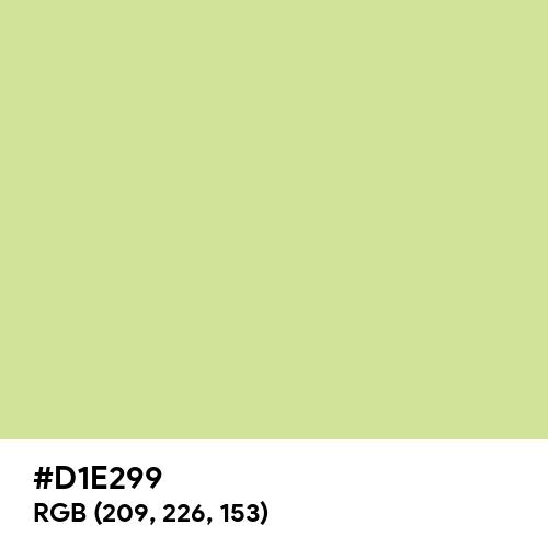 Medium Spring Bud (Hex code: D1E299) Thumbnail