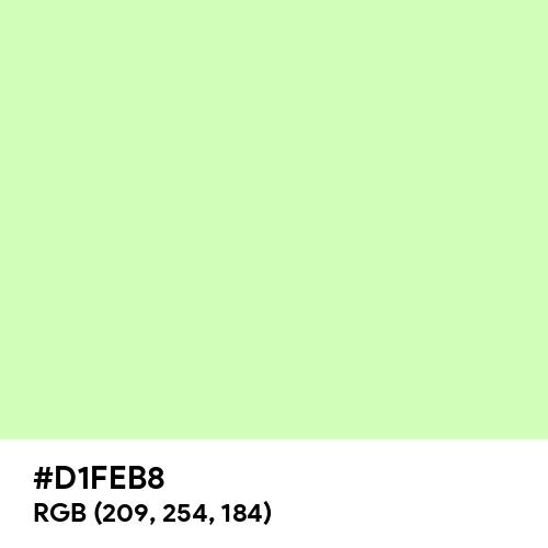Pastel Lime (Hex code: D1FEB8) Thumbnail