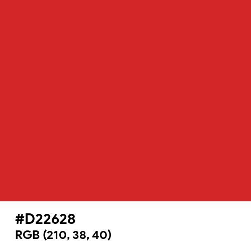 Rose (Hex code: D22628) Thumbnail