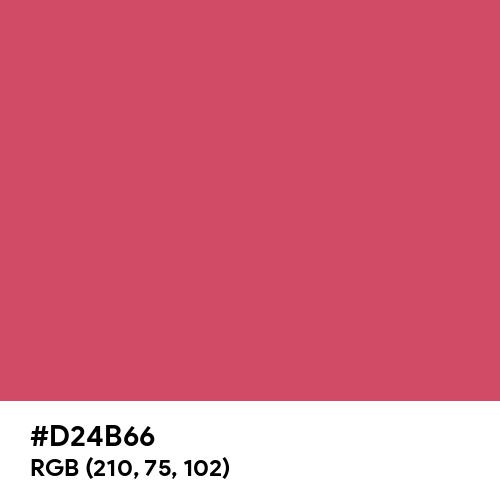 Dark Tulip (Hex code: D24B66) Thumbnail