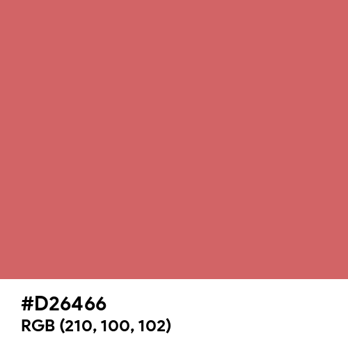 Pastel Red (Hex code: D26466) Thumbnail