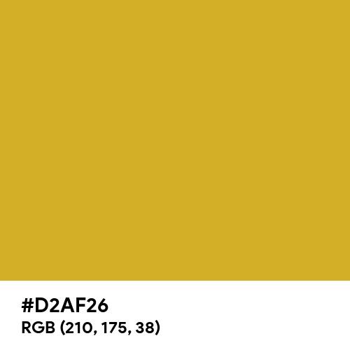 Premium Gold (Hex code: D2AF26) Thumbnail