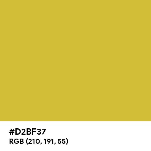 Matte Gold (Hex code: D2BF37) Thumbnail