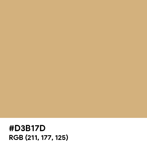 蒸栗色 (Mushikuri-iro) (Hex code: D3B17D) Thumbnail