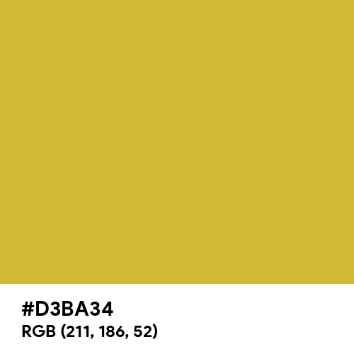 Gold CMYK (Hex code: D3BA34) Thumbnail