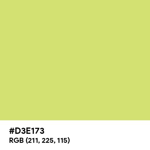 Lime CMYK (Hex code: D3E173) Thumbnail