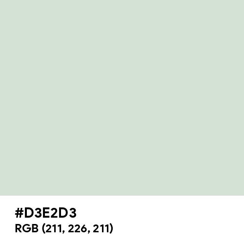 Light Silver (Hex code: D3E2D3) Thumbnail