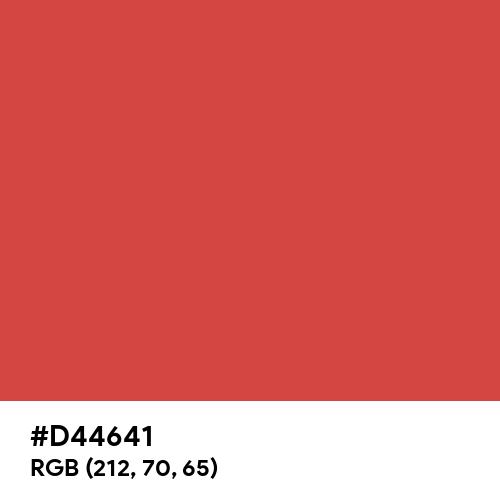 Rustic Red (Hex code: D44641) Thumbnail