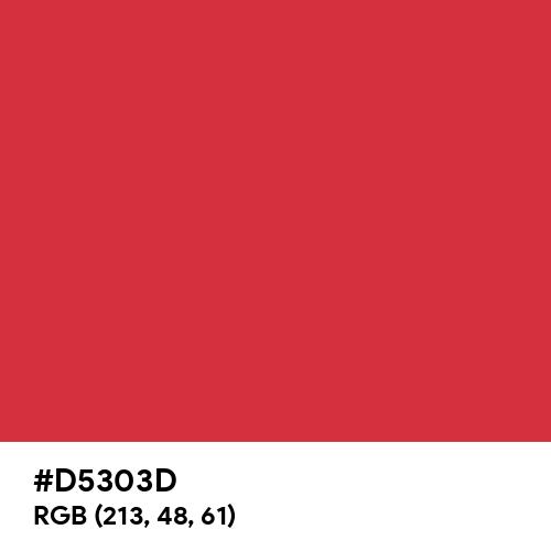Rusty Red (Hex code: D5303D) Thumbnail