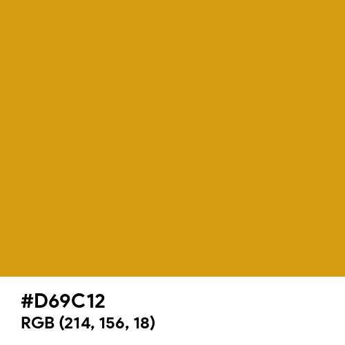 Autumn Yellow (Hex code: D69C12) Thumbnail