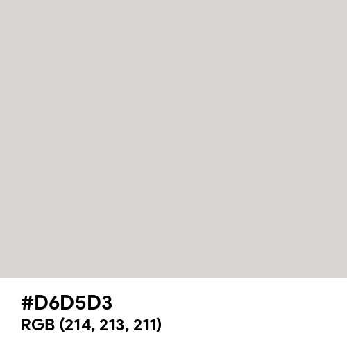 Light Gray (Hex code: D6D5D3) Thumbnail