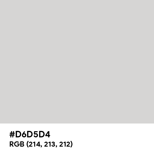Light Gray (Hex code: D6D5D4) Thumbnail