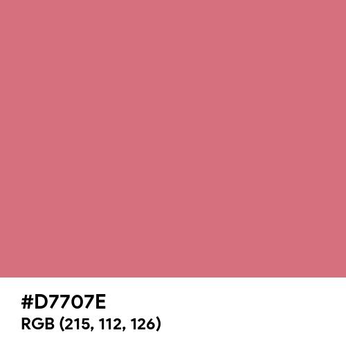 Rouge (Hex code: D7707E) Thumbnail