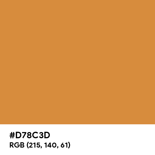 Rustic Orange (Hex code: D78C3D) Thumbnail