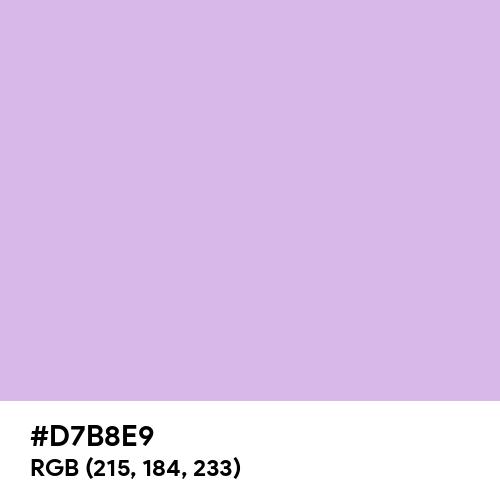 Muted Lavender (Hex code: D7B8E9) Thumbnail
