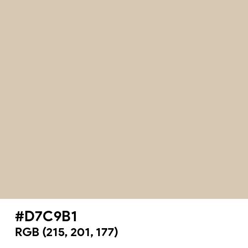 Oyster (Hex code: D7C9B1) Thumbnail