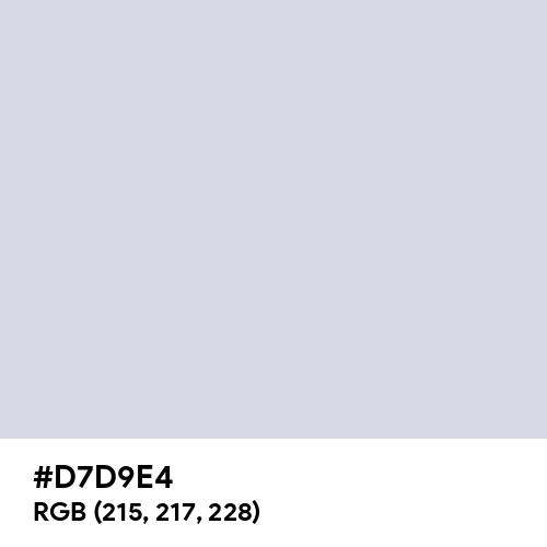 Gainsboro (Hex code: D7D9E4) Thumbnail