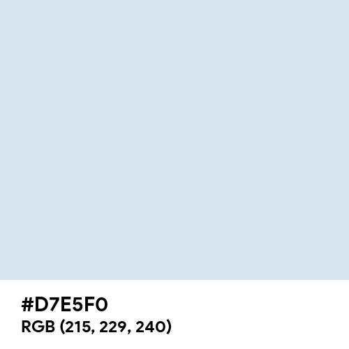 Pale Blue (Hex code: D7E5F0) Thumbnail