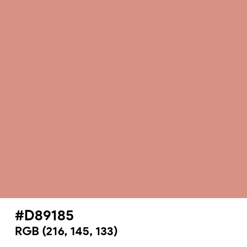 New York Pink (Hex code: D89185) Thumbnail