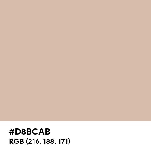 Warm Beige (Hex code: D8BCAB) Thumbnail