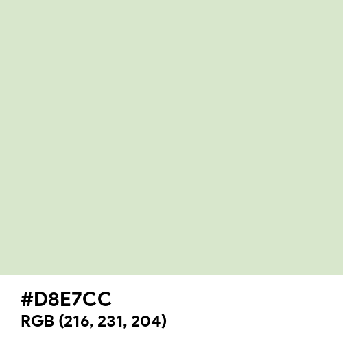 Light Neutral Green (Hex code: D8E7CC) Thumbnail