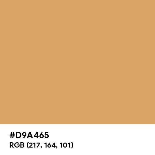 Light Orange (PWG) (Hex code: D9A465) Thumbnail