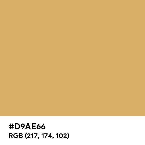 Earth Yellow (Hex code: D9AE66) Thumbnail