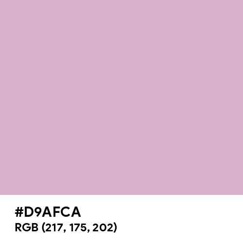 Pink Lavender (Hex code: D9AFCA) Thumbnail