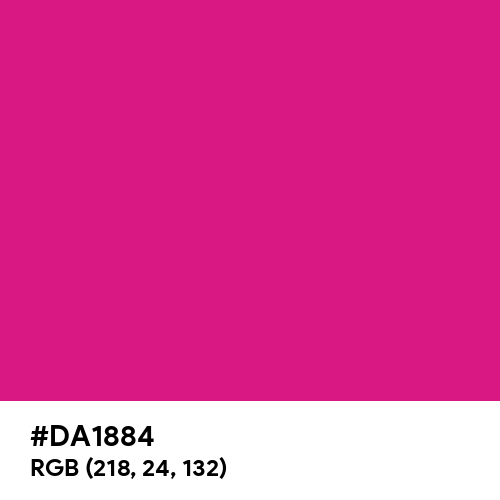Barbie Pink (Hex code: DA1884) Thumbnail