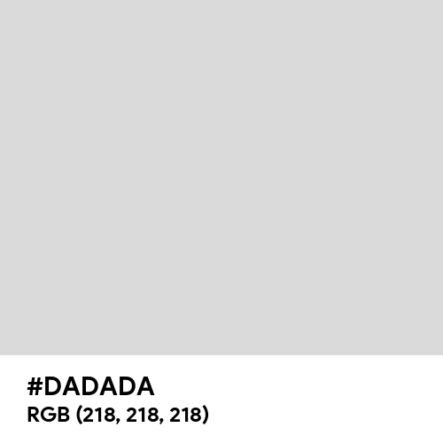 Gentle Gray (Hex code: DADADA) Thumbnail