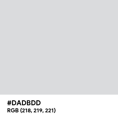 Silver White (Hex code: DADBDD) Thumbnail