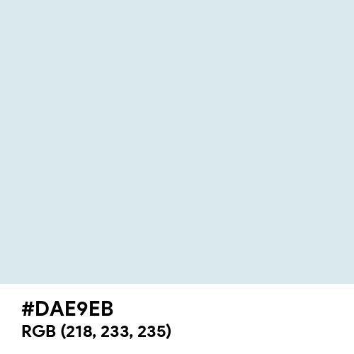 Azureish White (Hex code: DAE9EB) Thumbnail