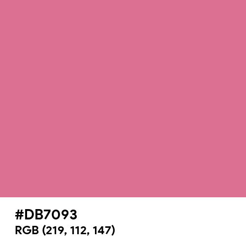 Pale Violet Red (Hex code: DB7093) Thumbnail