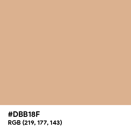 Muted Fawn (Hex code: DBB18F) Thumbnail