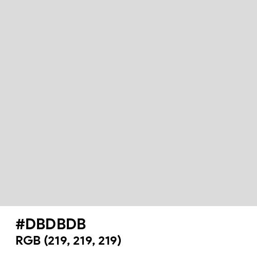 Soft Silver (Hex code: DBDBDB) Thumbnail