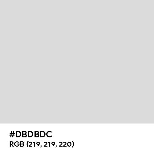 Pastel Silver (Hex code: DBDBDC) Thumbnail