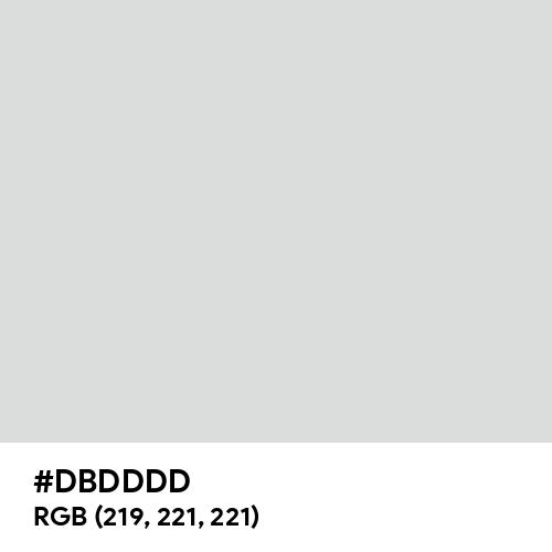Gainsboro (Hex code: DBDDDD) Thumbnail