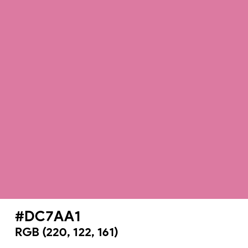 Chinese Pink (Hex code: DC7AA1) Thumbnail