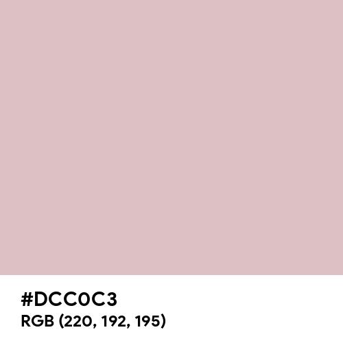 Mud Pink (Hex code: DCC0C3) Thumbnail