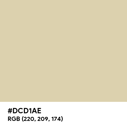 Old Ivory (Hex code: DCD1AE) Thumbnail