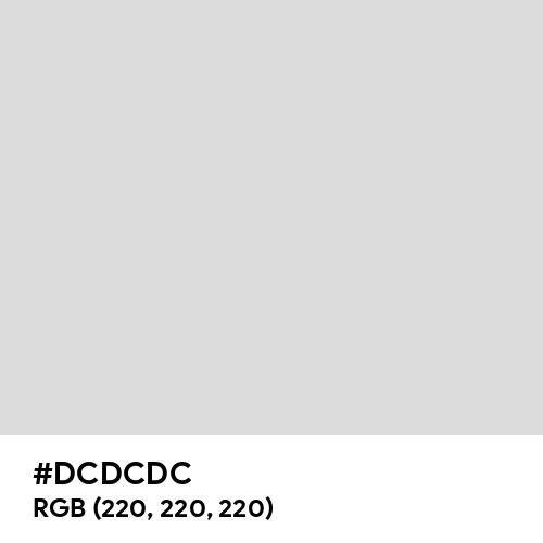 Gainsboro (Hex code: DCDCDC) Thumbnail