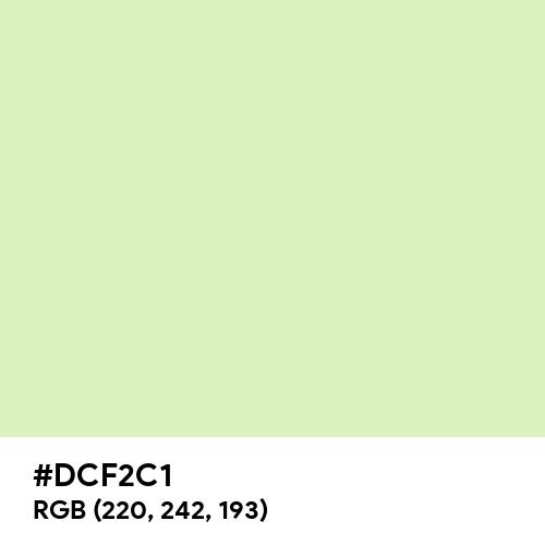 Tea Green (Hex code: DCF2C1) Thumbnail